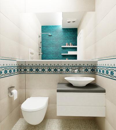 modern bathroom: modern colorful bathroom interior