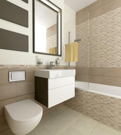 modern bathroom: modern bathroom interior Stock Photo
