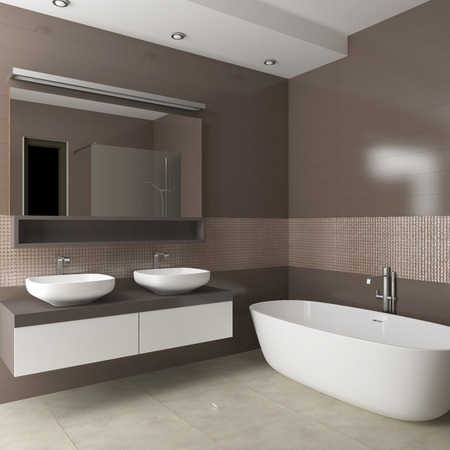modern bathroom interior 3d