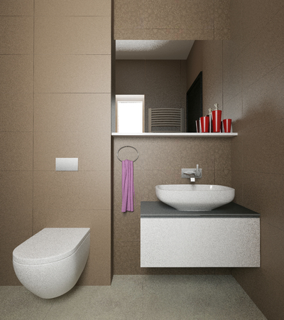 modern bathroom interior 3d
