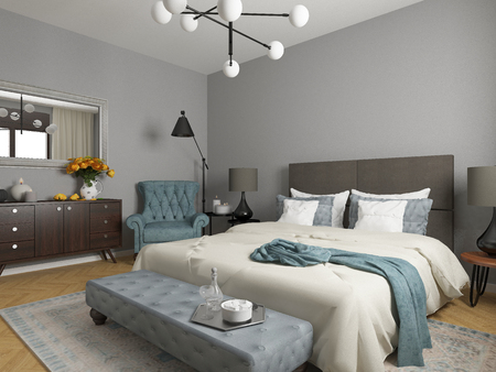 elegant bedroom interior