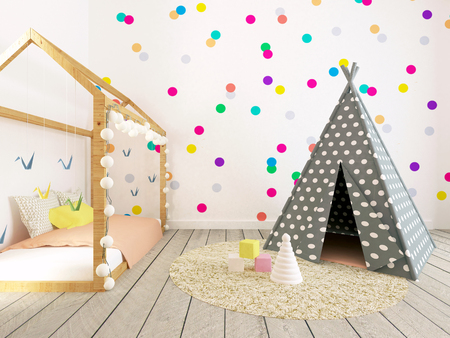 Baby Room Interior, Nusery, 3d Render