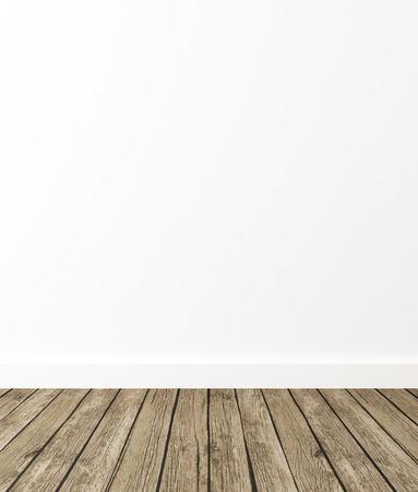 Empty Room Interior, 3d Render Zdjęcie Seryjne