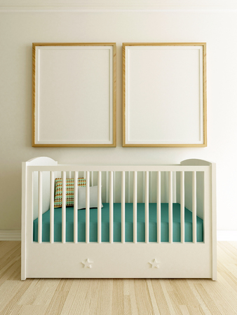 Poster Mockup In Baby Room Interior
