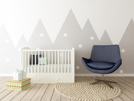 Baby Room Interior, Nursery Interior, Children Room