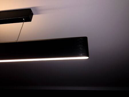 Design loft lamp with dim light and straight long line of beamDesign loft lamp with dim light and straight long line of beam