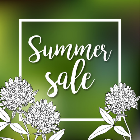 Summer sale set. Drawn lettering. Vector summer sale typography. Usable for cards and posters, sale billboards and signs. Sale banner design.