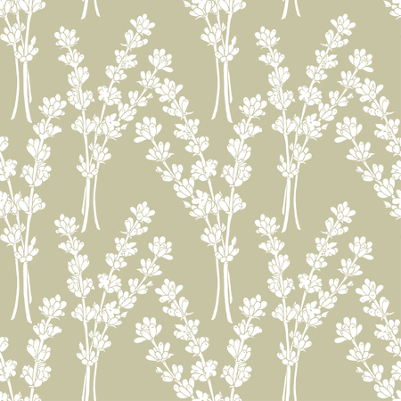 fragrant bouquet: Lavender. A seamless pattern for a print on packaging.  Graphics Illustration