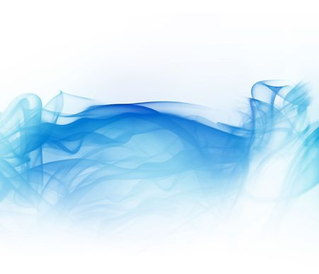 winter blues: abstract light blue smoke isolated on white background Stock Photo