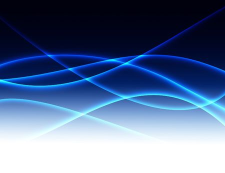elegant background with abstract blue luminescent lines
