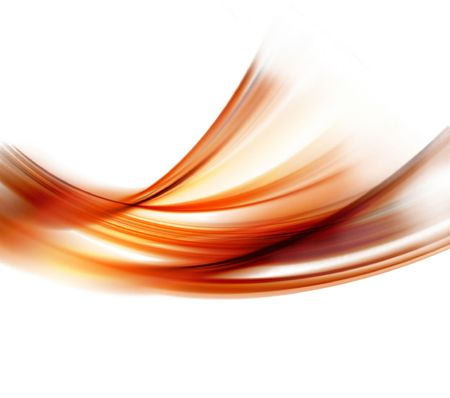 abstract smooth fire lines on a white background Stock Photo
