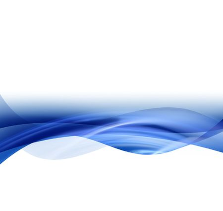 smooth blue line on a white background Stock Photo