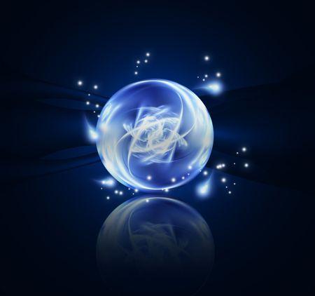 bola de cristal: Elemento fant�stico de dise�o o el arte abstracto para sus proyectos