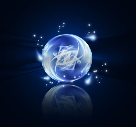 crystal ball: Fantastic abstract design or art element for your projects