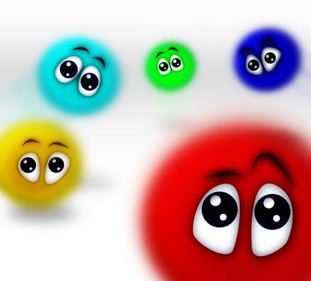 varicoloured: personas de dibujos animados bocetado tomadas en mayo 20, 2009  Foto de archivo