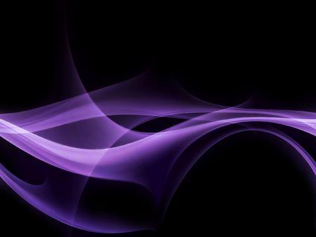 electrifying: glowing purple smoke on a black background Stock Photo