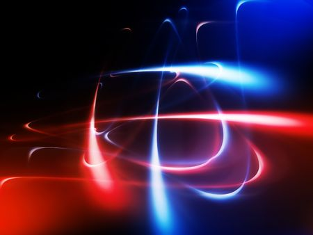 concave: abstract background with fluorescent line Stock Photo