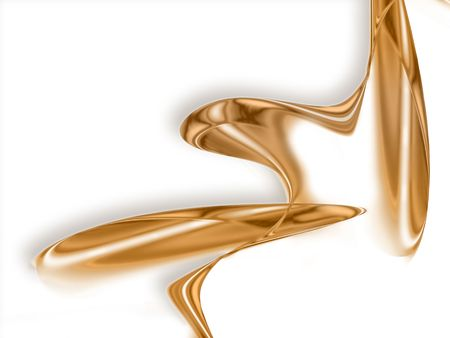 liquid gold -  abstract design or art element for your projects Stock Photo - 6991999