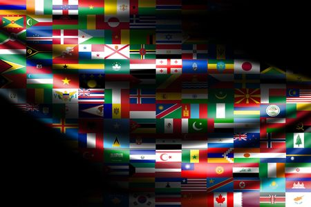 chinese american: flags of the world - computer generated  for your projects Stock Photo