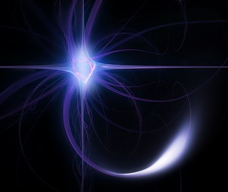 abstract electricity - computer generated  for your projects photo