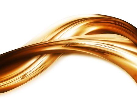 キャラメル: 液体ゴールドの背景 - エレガントな背景 写真素材