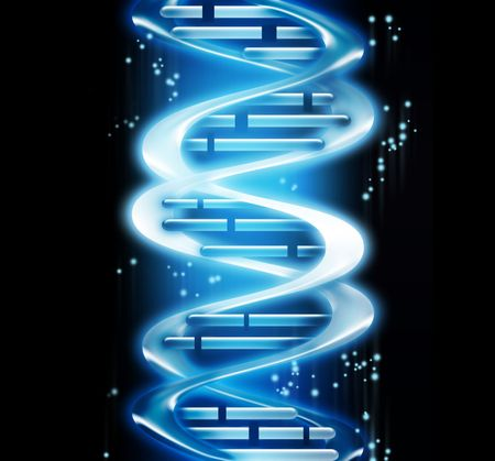 render of DNA - computer generated  for your projects