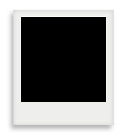 retrospect: blank photo isolated on white background  for your projects Stock Photo