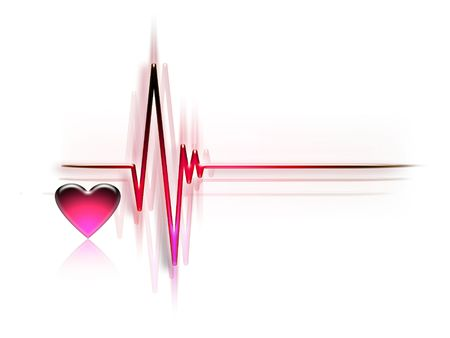 pulse trace: electrocardiogram graph isolated on a white background