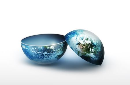 two part blank planet as element for your projects photo