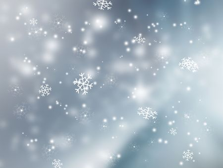falling star: falling snow - elegant background for your art design Stock Photo