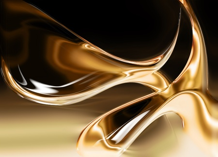 liquid gold background - computer generated  for your projects Stock Photo