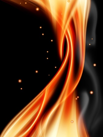 abstract fire against a dark background Stock Photo - 8542792