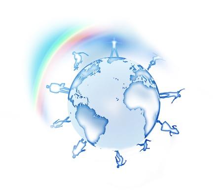 figures of people around the world Stock Photo - 8626496