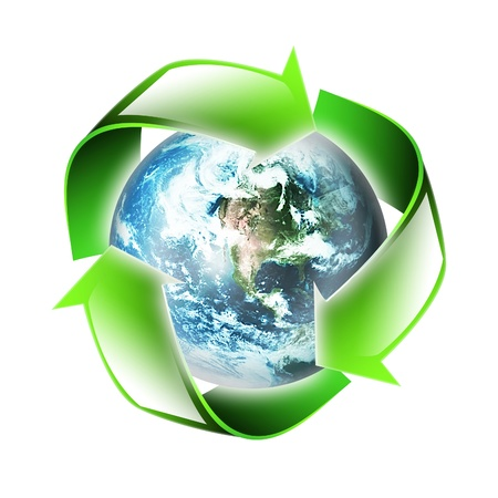 symbol of the environment is isolated on a white background photo