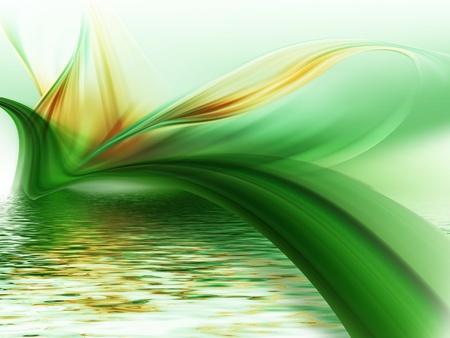 cuadros abstractos: flor abstracta sobre el agua