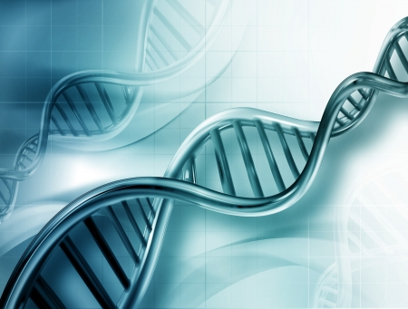 adn humano: Filamentos de ADN en abstracto antecedentes m�dicos Foto de archivo