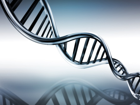DNA strands on abstract medical background Stock Photo - 9097204