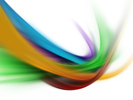 colored background: beautiful spectrum wave isolated on a white background