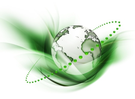 the origin: symbol of environmental protection isolated on a white background