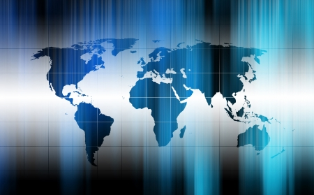 modern fluorescent background with world map Stock Photo - 9710135