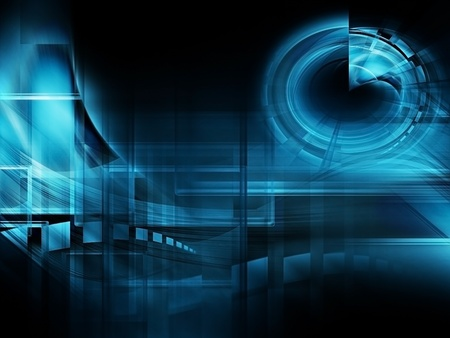 blurred motion: abstract technology background - computer generated  for your projects