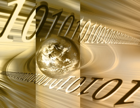 gold earth: abstract business background with the planet and the numbers