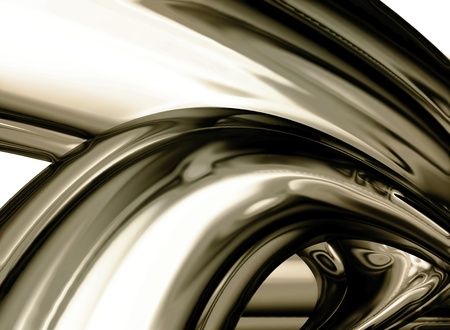 abstract chrome background - computer generated  for your projects Stock Photo - 9947069