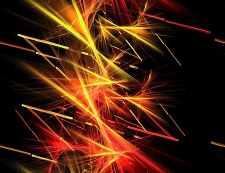 red and yellow stripes in the chaos - seamless pattern Stock Photo - 9947077