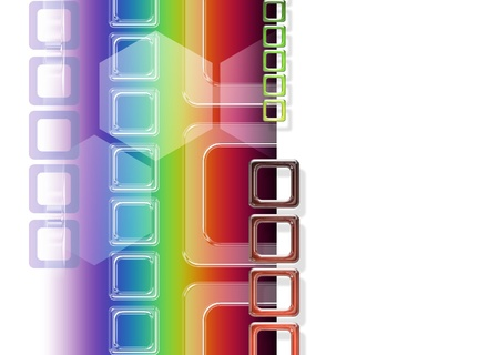 abstract background with rainbow and transparent squares photo