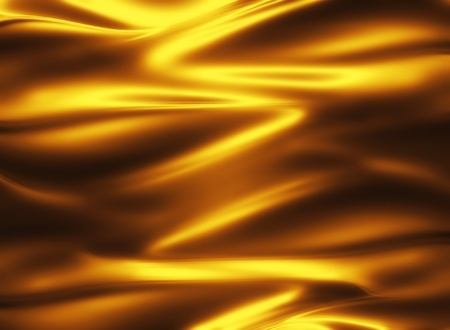 golden silk - elegant abstract background with smooth lines Stock Photo - 10348019