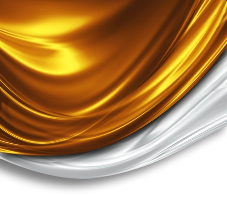 aniversario: oro y plata, de seda de dise�o - fondo moderno hermosa