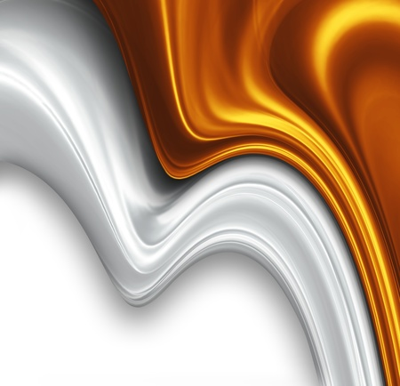 silver background: gold and silver silk design - beautiful modern background