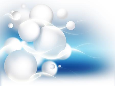 palle di neve: astratto sfondo blu con palla di neve inverno bianco