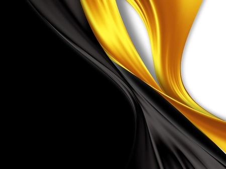 zwart en goud zijde - elegante achtergrond Stockfoto